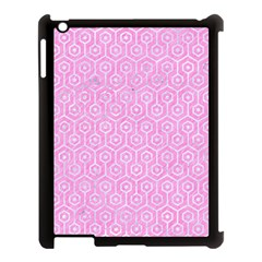 Hexagon1 White Marble & Pink Colored Pencil Apple Ipad 3/4 Case (black) by trendistuff