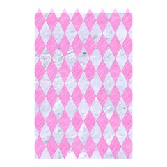 Diamond1 White Marble & Pink Colored Pencil Shower Curtain 48  X 72  (small)  by trendistuff