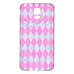 Diamond1 White Marble & Pink Colored Pencil Samsung Galaxy S5 Back Case (white) by trendistuff