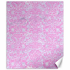 Damask2 White Marble & Pink Colored Pencil (r) Canvas 8  X 10  by trendistuff