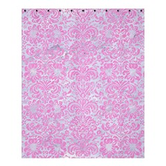 Damask2 White Marble & Pink Colored Pencil (r) Shower Curtain 60  X 72  (medium)  by trendistuff