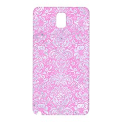 Damask2 White Marble & Pink Colored Pencil Samsung Galaxy Note 3 N9005 Hardshell Back Case by trendistuff