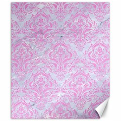 Damask1 White Marble & Pink Colored Pencil (r) Canvas 20  X 24