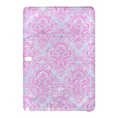 Damask1 White Marble & Pink Colored Pencil (r) Samsung Galaxy Tab Pro 12 2 Hardshell Case by trendistuff