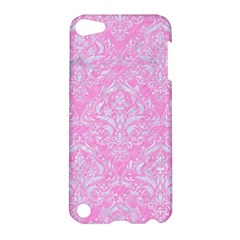 Damask1 White Marble & Pink Colored Pencil Apple Ipod Touch 5 Hardshell Case by trendistuff