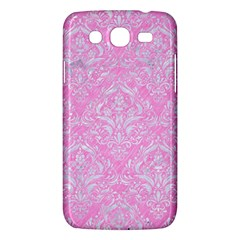 Damask1 White Marble & Pink Colored Pencil Samsung Galaxy Mega 5 8 I9152 Hardshell Case  by trendistuff