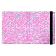 Damask1 White Marble & Pink Colored Pencil Apple Ipad Pro 9 7   Flip Case by trendistuff