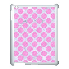 Circles2 White Marble & Pink Colored Pencil (r) Apple Ipad 3/4 Case (white)