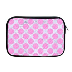Circles2 White Marble & Pink Colored Pencil (r) Apple Macbook Pro 17  Zipper Case by trendistuff