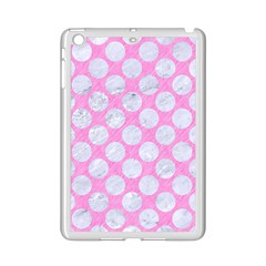 Circles2 White Marble & Pink Colored Pencil Ipad Mini 2 Enamel Coated Cases by trendistuff