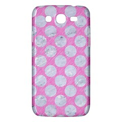 Circles2 White Marble & Pink Colored Pencil Samsung Galaxy Mega 5 8 I9152 Hardshell Case  by trendistuff