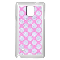 Circles2 White Marble & Pink Colored Pencil Samsung Galaxy Note 4 Case (white)