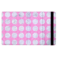 Circles1 White Marble & Pink Colored Pencil Apple Ipad Pro 9 7   Flip Case by trendistuff