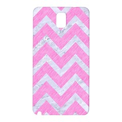 Chevron9 White Marble & Pink Colored Pencil Samsung Galaxy Note 3 N9005 Hardshell Back Case by trendistuff