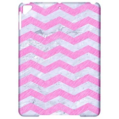 Chevron3 White Marble & Pink Colored Pencil Apple Ipad Pro 9 7   Hardshell Case by trendistuff