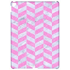 Chevron1 White Marble & Pink Colored Pencil Apple Ipad Pro 12 9   Hardshell Case by trendistuff