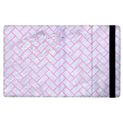 Brick2 White Marble & Pink Colored Pencil (r) Apple Ipad 2 Flip Case by trendistuff