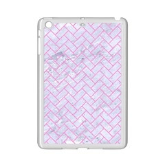 Brick2 White Marble & Pink Colored Pencil (r) Ipad Mini 2 Enamel Coated Cases by trendistuff