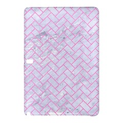 Brick2 White Marble & Pink Colored Pencil (r) Samsung Galaxy Tab Pro 12 2 Hardshell Case by trendistuff