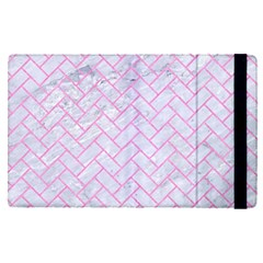 Brick2 White Marble & Pink Colored Pencil (r) Apple Ipad Pro 9 7   Flip Case by trendistuff
