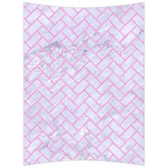 Brick2 White Marble & Pink Colored Pencil (r) Back Support Cushion