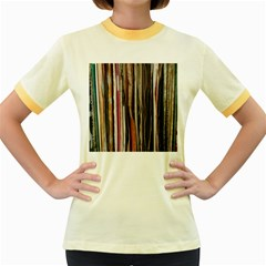 Old Singles Women s Fitted Ringer T Shirts