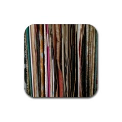 Old Singles Rubber Square Coaster (4 Pack)