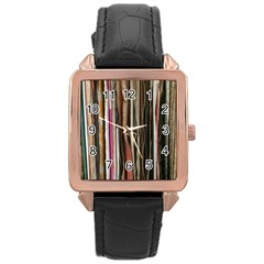 Old Singles Rose Gold Leather Watch