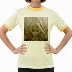 Cut Crystal Women s Fitted Ringer T Shirts