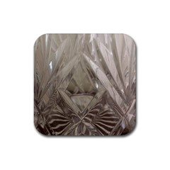 Cut Crystal Rubber Square Coaster (4 Pack)