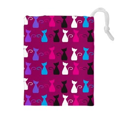 Cats Drawstring Pouches (extra Large) by luizavictorya72