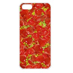 Strawberry Apple Iphone 5 Seamless Case (white) by eyeconart