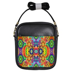 Artwork By Patrick Colorful 47 Girls Sling Bags by ArtworkByPatrick