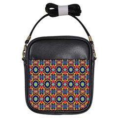 Artwork By Patrick Colorful 47 1 Girls Sling Bags by ArtworkByPatrick