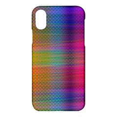 Colorful Sheet Apple Iphone X Hardshell Case by LoolyElzayat