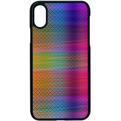 Colorful Sheet Apple Iphone X Seamless Case (black)