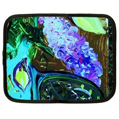 Lilac And Lillies 1 Netbook Case (xl)  by bestdesignintheworld