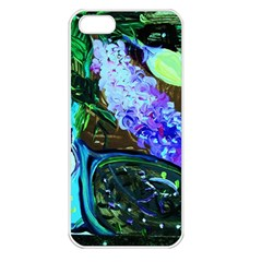 Lilac And Lillies 1 Apple Iphone 5 Seamless Case (white) by bestdesignintheworld