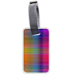 Colorful Sheet Luggage Tags (one Side)  by LoolyElzayat