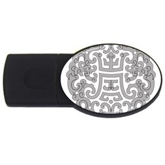 Chinese Traditional Pattern Usb Flash Drive Oval (2 Gb) by Nexatart