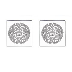 Chinese Traditional Pattern Cufflinks (square)