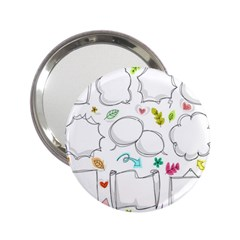 Set Chalk Out Chitchat Scribble 2 25  Handbag Mirrors by Nexatart