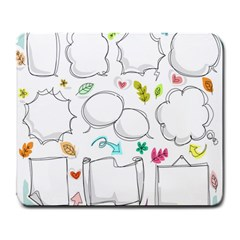 Set Chalk Out Chitchat Scribble Large Mousepads