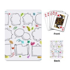 Set Chalk Out Chitchat Scribble Playing Card