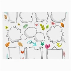 Set Chalk Out Chitchat Scribble Large Glasses Cloth
