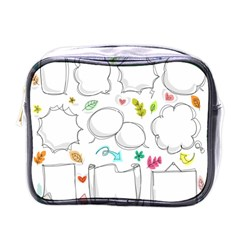 Set Chalk Out Chitchat Scribble Mini Toiletries Bags