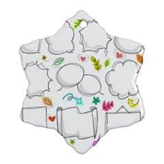 Set Chalk Out Chitchat Scribble Snowflake Ornament (two Sides)