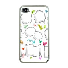 Set Chalk Out Chitchat Scribble Apple Iphone 4 Case (clear)