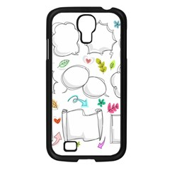 Set Chalk Out Chitchat Scribble Samsung Galaxy S4 I9500/ I9505 Case (black)