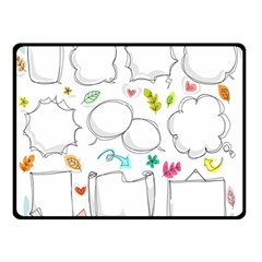 Set Chalk Out Chitchat Scribble Double Sided Fleece Blanket (small)